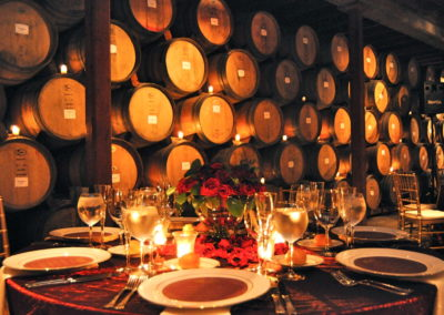 Fortune 500 Company Wine Tour Package inside the barrel cellar